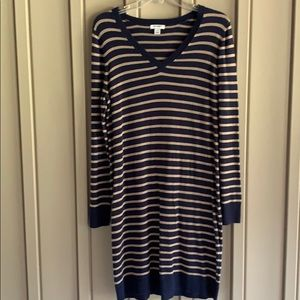 Old Navy Long Sleeve Striped Dress